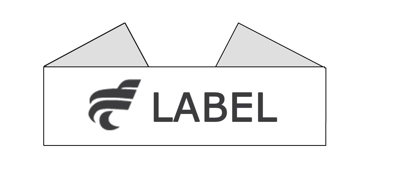 label pliage classique