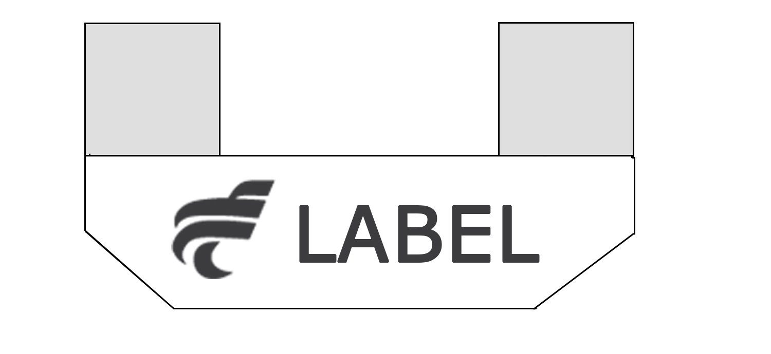 label pliage en potence