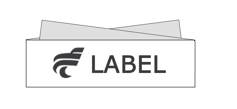 label facon depliant