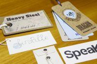 etiquette en carton recycle