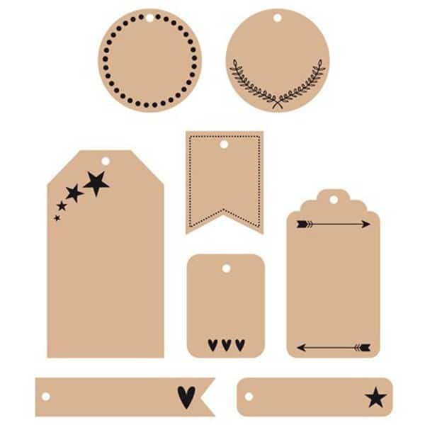 Les étiquettes identifient vos accessoires de maison