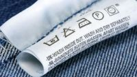 étiquette de composition et symboles de lavages